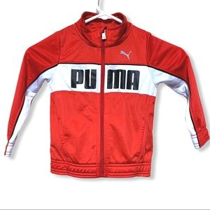 PUMA kids jacket size 3t zip up red with pockets
